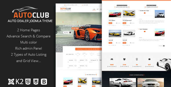 Auto Club - Responsive Car Dealer Joomla Template