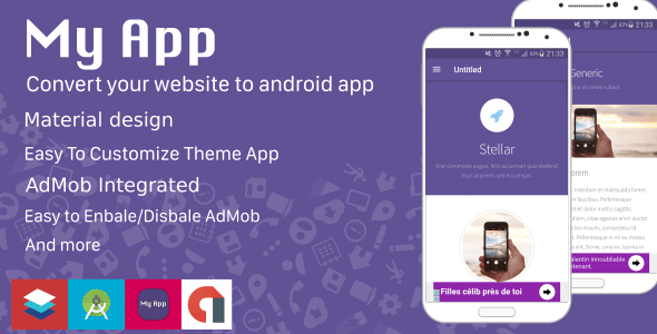 With My app, you can easily create your own app for Android Phones.