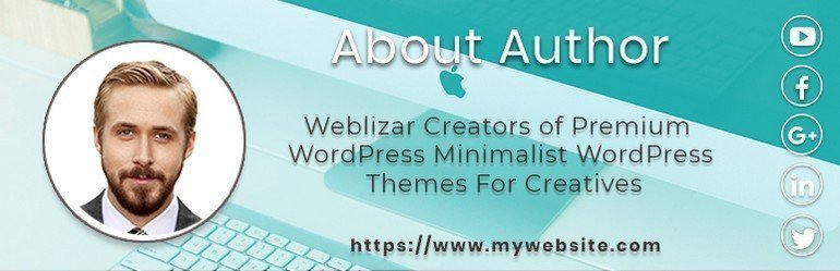 Author is a WordPress author bio plugin by Weblizar.
