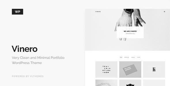Vinero is a minimalist premium WordPress theme with an elegant and clean design.