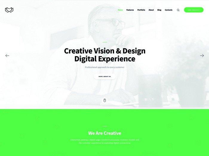 Deviox A Trendy Multi-Purpose Business WordPress Theme.