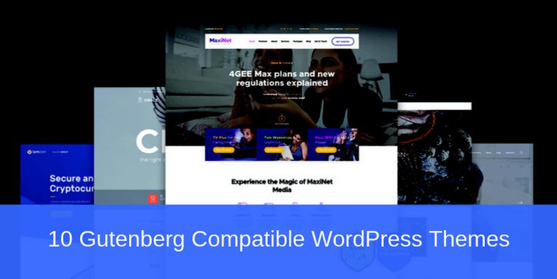 10 Gutenberg Compatible WordPress Themes for Modern Blogs