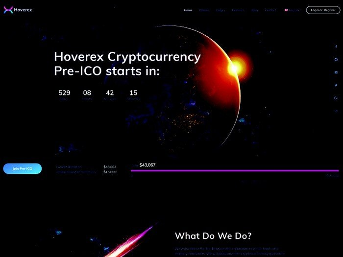 Hoverex is a modern and trendy cryptocurrency & ICO WordPress theme.