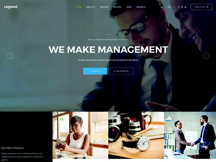 LeGrand is a multi-purpose business and corporate WordPress theme.