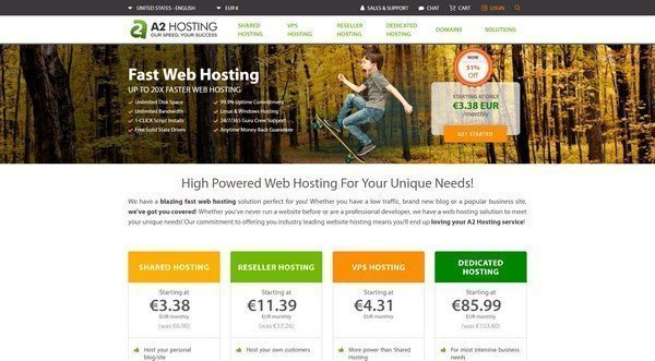 A2 Hosting offer web hosting plans that cater to the needs of corporate customers.