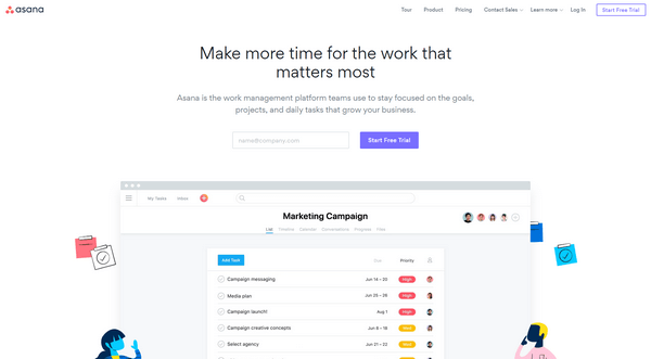 Using tools such as Asana you can easily manage your team.