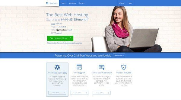 BlueHost is one of the safest and most reliable hosting service provider.