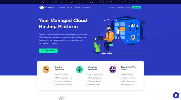 Cloudways us ab managed cloud web hosting platform.
