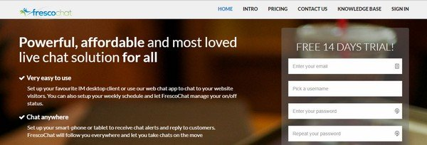 Fresco Chat is a WordPress plugin to live chat with customers.
