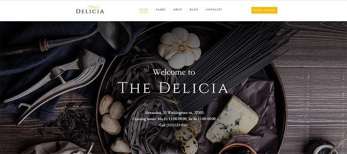 Delicia is a stunning restaurant theme.