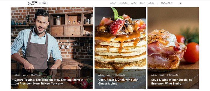 Gastronomix is a great ready-made restaurant template.