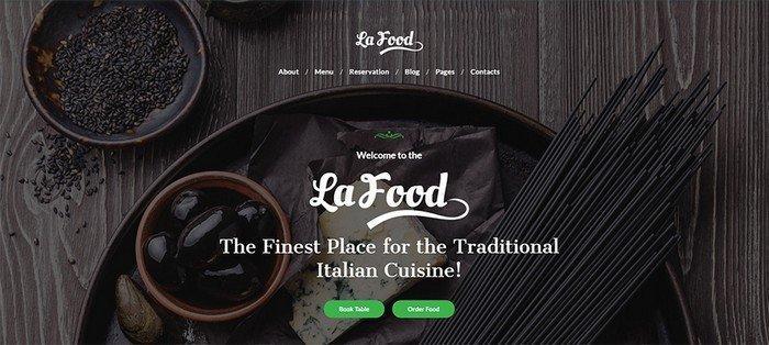 La Food WordPress Theme.