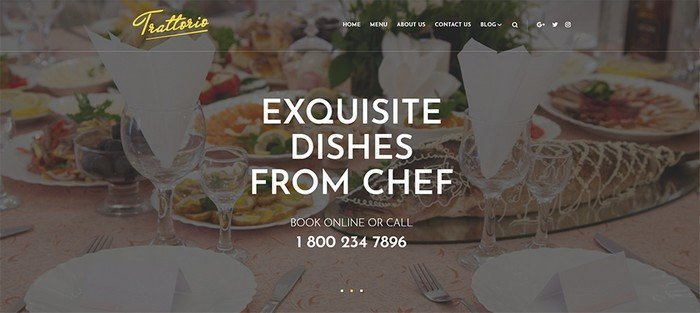 Trattorio is a elegant restaurant template.