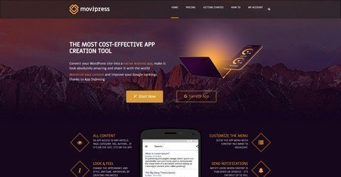 Convert your WordPress site into a native Android app with Movipress