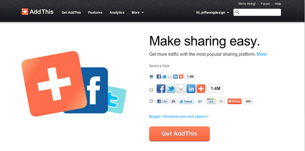 AddThis is a great tool to connect your WordPress website and social media platforms.