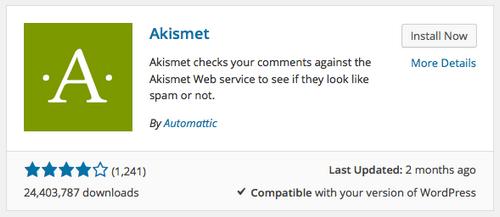 Akismet is one of the best WordPress anti-spam tool.