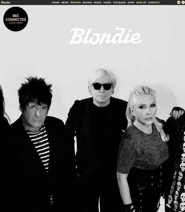Bands Using WordPress - Blondie was founded by Debbie Harry and Chris Stein back in 1974.