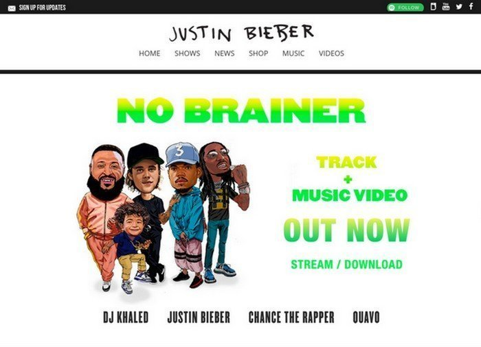 15 Celebrities and Bands Using WordPress as a CMS - Justin Bieber is a singer and songwriter from Canada.