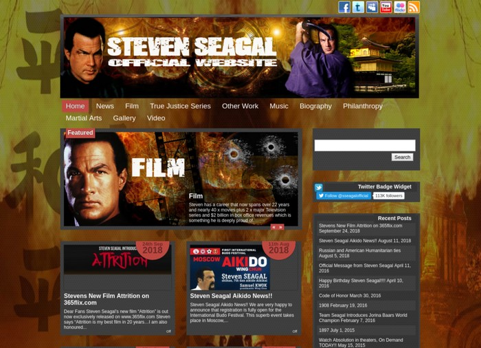 Steven Seagal is an American actor, screenwriter, and martial artist.