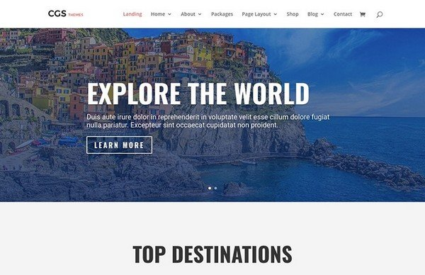 This travel WordPress theme is perfect for any travel agency.