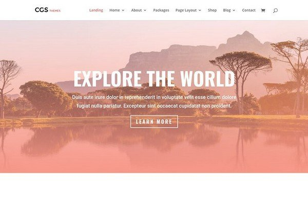 The Travel Agency Theme is perfect to showcasing a travel site.