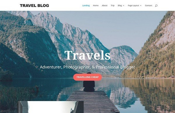 The Travel Blog Theme is a great looking Travel WordPress theme in magazine-style.