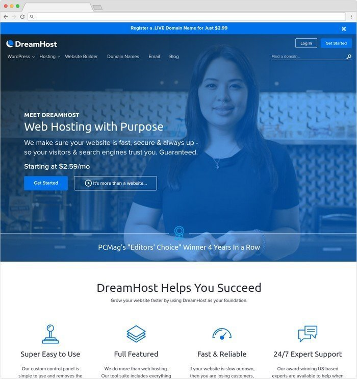Dreamhost founded in 1996 have over 20 years of experience.