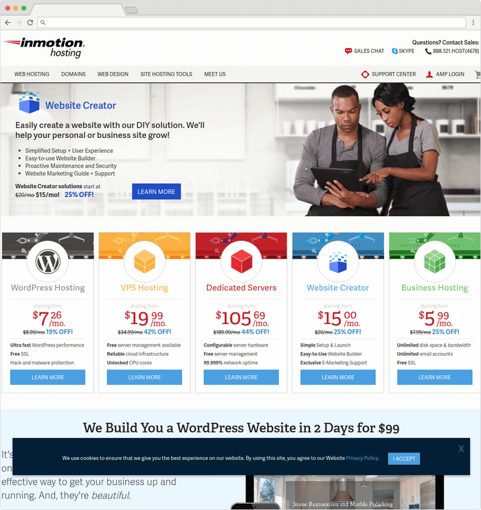 Inmotion website hosting company have been in the field since 2001.