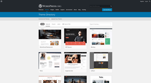 WordPress has plenty of free themes for your website.