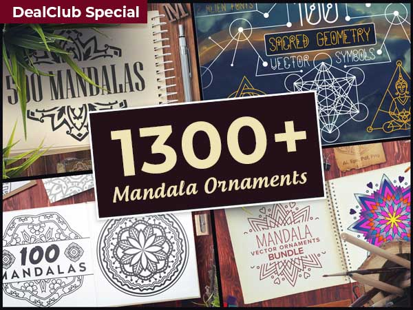 This Mandala ornaments bundle is a bestselling deal on DealFuel.