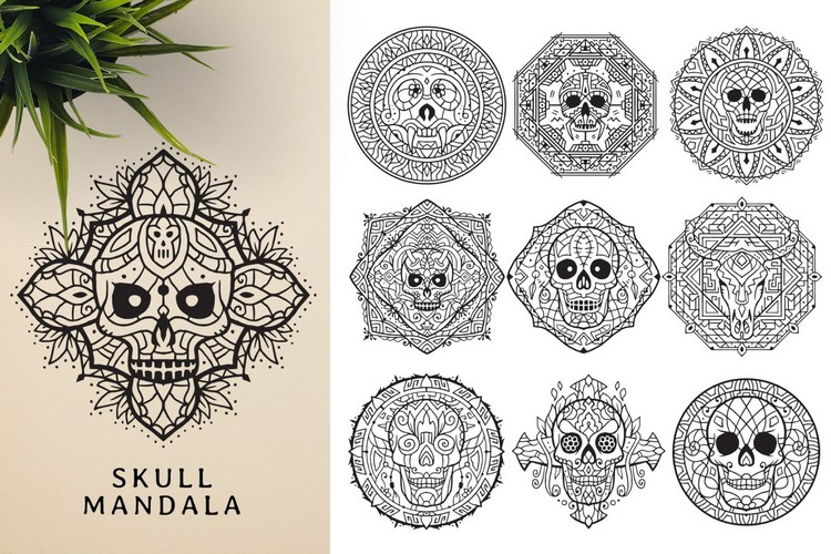 You even get Skull Mandalas.