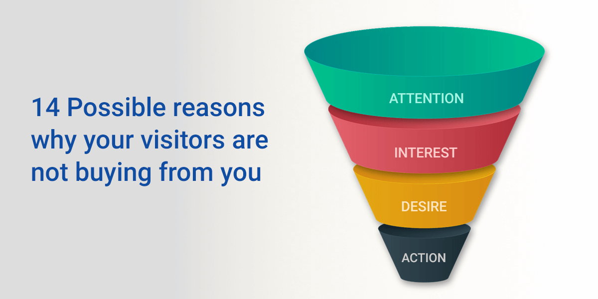 Possible Reasons Why Your Visitors Are Not Buying From You