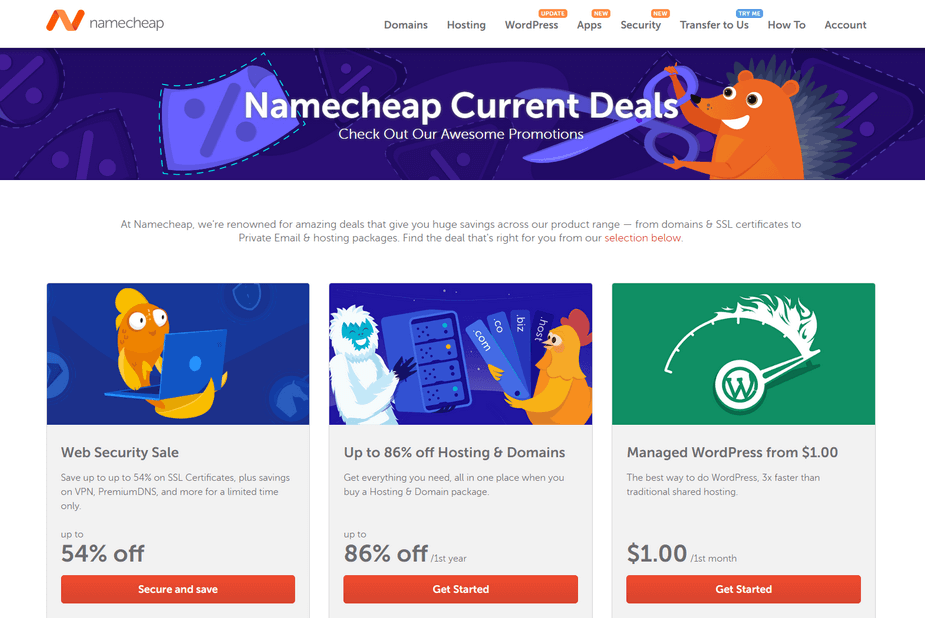 Check out all the excellent Namecheap deals and promotions.