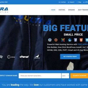 Ultra Web Hosting is a blazing fast website hosting provider