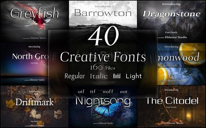 Creative Font Bundles - This bundle comes with 40 beautiful fonts included.