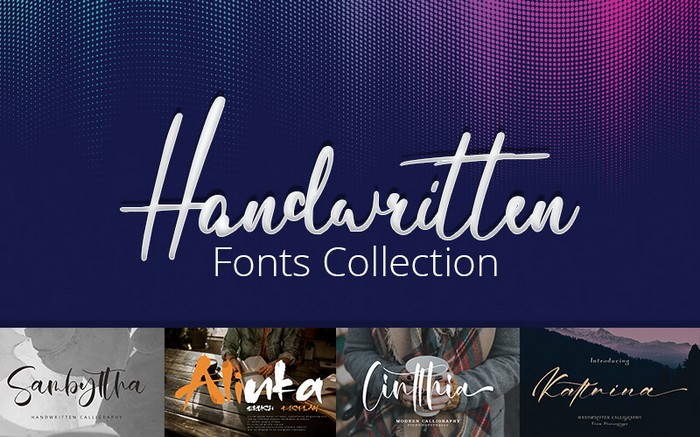 The Handwritten Fonts bundle comes with unique handwriting fonts.