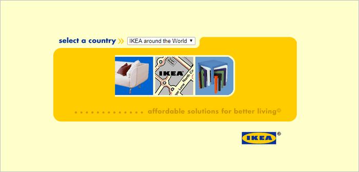 Famous Brands Websites - IKEA website layout 1999.