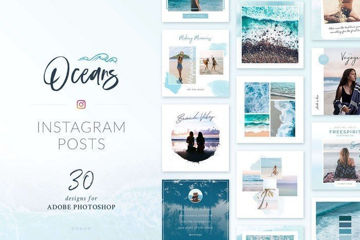 There are varieties of Instagram template for Instagram posts. Poego Social creates all the models.