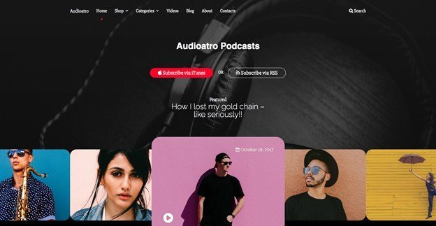 Audioatro is a powerful WP theme.