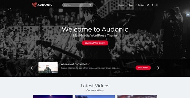 Audonic is a feature-rich podcast theme for WordPress.