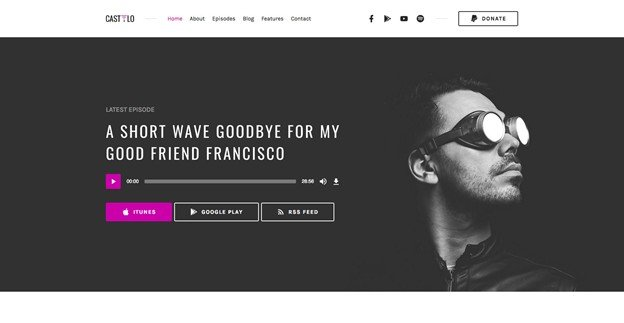 Castilo is a professional WordPress theme for the audio podcast.