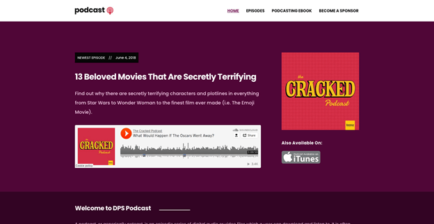 Podcast is a free WordPress podcast theme.