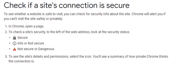 You can easily check if a website's connection is secure or not.
