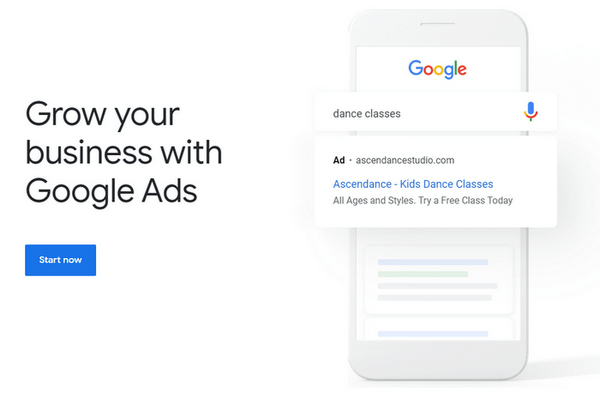 Automated bidding in Google Ads.