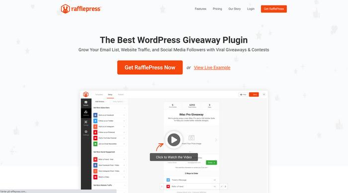 RafflePress is the perfect WordPress plugin for giveaways.