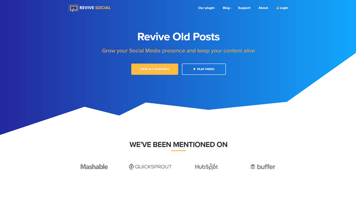 Revive Old Posts helps you to share old articles on your social media profiles.