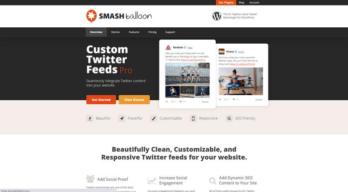 Smash Balloon Custom Twitter Feeds Pro is a great Twitter plugins for WordPress.