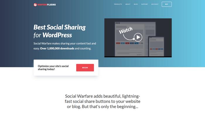 Social Warfare is popular plugin for easy social sharing.