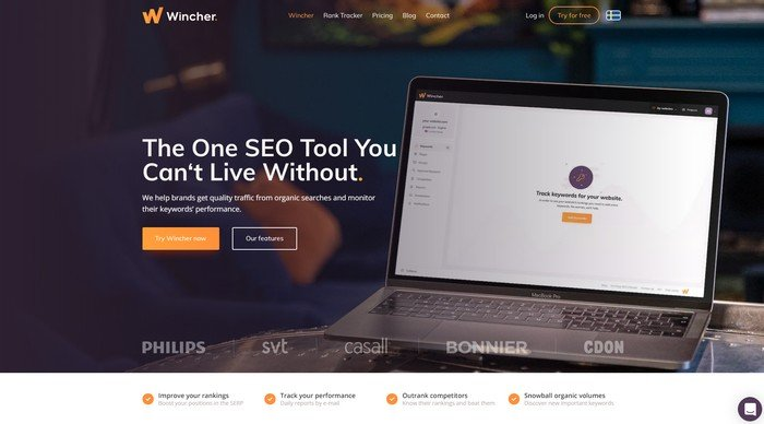 Wincher is a cost-effective and reliable SEO rank tracker.