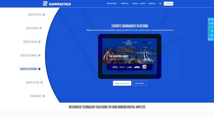 Gammastack, is a betting software development employer.